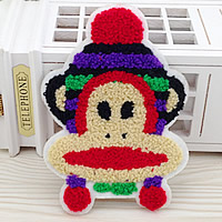 Iron on Patches, Cloth, with Velveteen, Monkey, multi-colored, 110x155mm, 50PCs/Lot, Sold By Lot