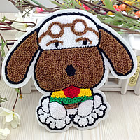 Iron on Patches, Cloth, with Velveteen, Dog, multi-colored, 110x120mm, 50PCs/Lot, Sold By Lot