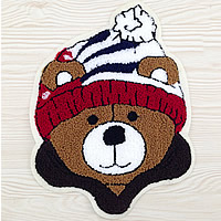 Iron on Patches, Cloth, with Velveteen, Bear, multi-colored, 110x145mm, 50PCs/Lot, Sold By Lot