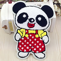 Iron on Patches, Cloth, with Velveteen, Panda, multi-colored, 170x235mm, 50PCs/Lot, Sold By Lot