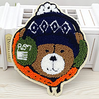 Iron on Patches, Cloth, with Velveteen, Bear, multi-colored, 140x167mm, 50PCs/Lot, Sold By Lot