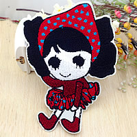 Iron on Patches, Cloth, with Velveteen, Girl, multi-colored, 205x295mm, 20PCs/Lot, Sold By Lot