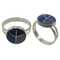 кольцо с эмалью настроения , Латунь, с Железо, Мира логотип, Платиновое покрытие платиновым цвет, регулируемый & настроение эмаль, не содержит никель, свинец, 13x13mm, отверстие:Приблизительно 1.5mm, размер:8, 100ПК/Box, продается Box