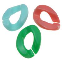 Akrylowy Pierścień łączący, Akryl, Bryłki, Otwórz & efekt galaretki, mieszane kolory, 17x24x5mm, otwór:około 6x12mm, około 550komputery/torba, sprzedane przez torba