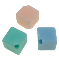 Jelly Style Acrylic Beads, Rhombus, mixed colors, 8x9mm, Hole:Approx 1mm, Approx 1300PCs/Bag, Sold By Bag