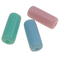Jelly Style Acrylic Beads, Column, mixed colors, 10.5x4mm, Hole:Approx 1mm, Approx 3330PCs/Bag, Sold By Bag
