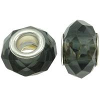 European kristalli helmiä, Rondelli, messinki Kaksoisjohdin ilman peikko & kasvot, Crystal Bronze Shade, 14x9mm, Reikä:N. 5mm, 20PC/laukku, Myymät laukku