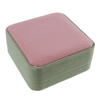 Velveteen Bracelet Box, Plastic, with Velveteen, Square, two tone, 90x90x45mm, 20PCs/Lot, Sold By Lot