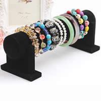 Velveteen Bracelet Display, Cardboard, with Velveteen, black, 90x255x95mm, 50mm, 30mm, 6PCs/Lot, Sold By Lot