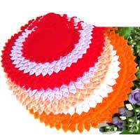 Хлопок Кубок Pad, Форма цветка, разноцветный, 20cm, 40ПК/Лот, продается Лот