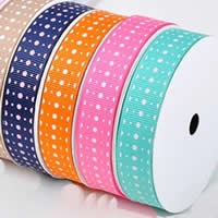 Grosgrain Ribbon printing with round spot pattern   single-sided mixed colors 2PCs/Bag 100Yards/PC