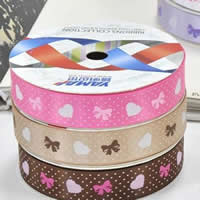 Grosgrain Ribbon printing single-sided mixed colors 5PCs/Bag 100Yards/PC