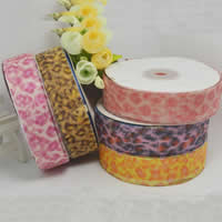 Organza Ribbon, printing, different size for choice, mixed colors, 2PCs/Bag, 200/PC, Sold By Bag