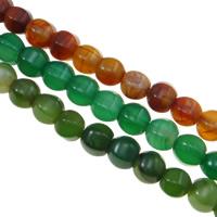 Agate Beads, Drum, different size for choice, more colors for choice, Hole:Approx 1-2mm, Length:Approx 15.5 Inch, Sold By Bag