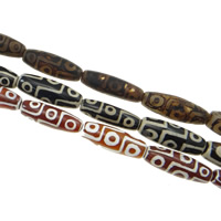 Natural Tibetan Agate Dzi Beads, Oval, more sizes for choice, more colors for choice, Hole:Approx 2.5mm, Length:Approx 15.5 Inch, 5Strands/Bag, Sold By Bag
