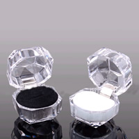 Acrylic Ring Box, with Velveteen, mixed colors, 38x38mm, 200PCs/Lot, Sold By Lot