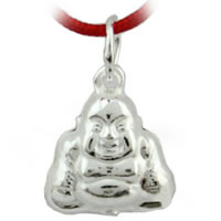 99.99% Sterling Silver Bell Charm, Buddha, 12x10mm, Hole:Approx 5mm, 20PCs/Bag, Sold By Bag