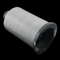Polyester Nonelastic Thread, with plastic spool, white, 0.30mm, 5PCs/Lot, Sold By Lot