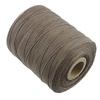 Polyester Nonelastic Thread, with plastic spool, brown, 1.50mm, 3PCs/Lot, Sold By Lot
