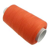 Cotton Nonelastic Thread, with plastic spool, reddish orange, 0.20mm, 30PCs/Lot, Sold By Lot