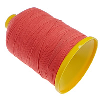 Cotton Nonelastic Thread, with plastic spool, red, 0.80mm, 5PCs/Lot, Sold By Lot