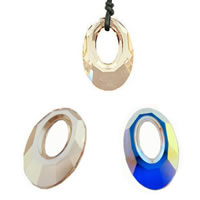 Austrian Crystal Pendant, Oval, imported & faceted, mixed colors, 20x13.5mm, Hole:Approx 4-8mm, 10PCs/Bag, Sold By Bag