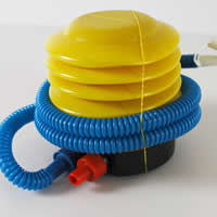 пластик Педаль мощности инфлятор насос, желтый, 120x90mm, 40ПК/Лот, продается Лот