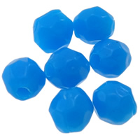 Solid Color Acrylic Beads, Drum, faceted, more colors for choice, 3x4mm, Hole:Approx 0.5-1mm, Approx 25000PCs/Bag, Sold By Bag