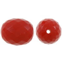 Solid Color Acrylic Beads, Drum, faceted, more colors for choice, 17x21mm, Hole:Approx 2mm, Approx 130PCs/Bag, Sold By Bag