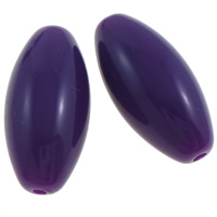 Solid Color Acrylic Beads, Oval, dark purple, 21x10mm, Hole:Approx 2mm, Approx 330PCs/Bag, Sold By Bag