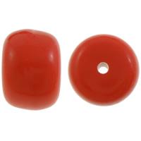 الصلبة الخرز الاكريليك اللون, أكريليك, هل rondelle, بلون, أحمر, 14x20mm, حفرة:تقريبا 3mm, تقريبا 125أجهزة الكمبيوتر/حقيبة, تباع بواسطة حقيبة