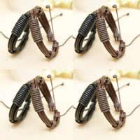 Браслеты с кожаным ремешком, Искусственная кожа, с Восковой шнур, разноцветный, 11mm, длина:Приблизительно 6.5 дюймовый, 50пряди/Лот, продается Лот