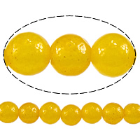 Natural Aventurine Beads, Jade Yellow, Round, 4mm, Length:Approx 16 Inch, 10Strands/Lot, Sold By Lot