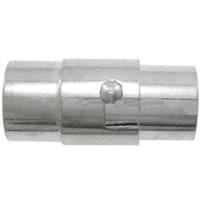 Brass Magnetic Clasp Tube platinum color plated nickel lead   cadmium free 8x17mm Hole:Approx 6mm 10PCs/Bag