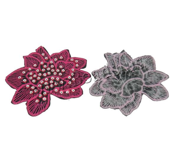 Buy Sewing-on Patch Cloth Plastic Sequin Flower mixed colors 93x83x1mm 99PCs/Bag Sold Bag
