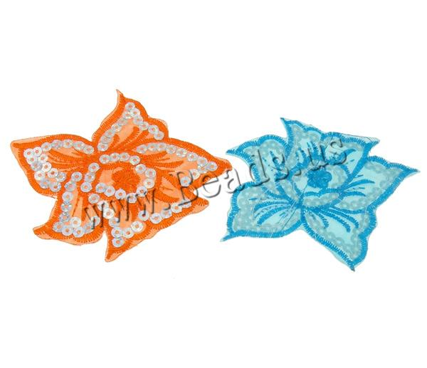 Buy Sewing-on Patch Cloth Plastic Sequin Flower mixed colors 95x80x1mm 99PCs/Bag Sold Bag