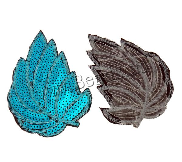 Buy Sewing-on Patch Cloth Plastic Sequin Leaf mixed colors 83x128x1mm 99PCs/Bag Sold Bag