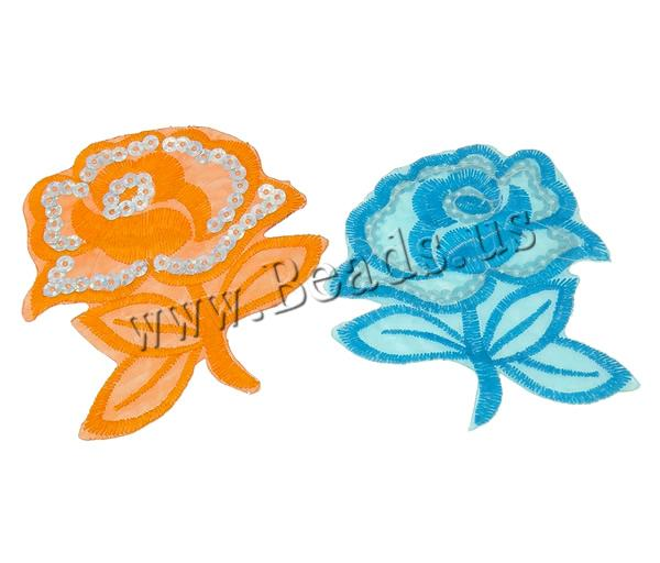 Buy Sewing-on Patch Cloth Plastic Sequin Flower mixed colors 80x85x1mm 99PCs/Bag Sold Bag