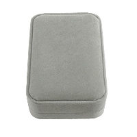 Velveteen Pendant Box, Plastic, with Velveteen, Rectangle, grey, 70x100x350mm, 28PCs/Lot, Sold By Lot