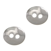 Oval Button Clasp Brass Flat Oval platinum color plated nickel lead   cadmium free 12x10mm Hole:Approx 2mm 200PCs/Lot