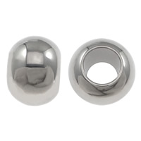 Stainless Steel Jewelry Beads, Drum, more sizes for choice, original color, Sold By Lot