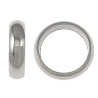 Stainless Steel Jewelry Beads, Donut, more sizes for choice, original color, Sold By Lot