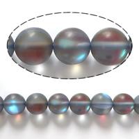 الخرز أزياء زجاج, جولة, مطلي, متجمد, المزيد من الألوان للاختيار, 10mm, حفرة:تقريبا 1mm, طول:تقريبا 15 بوصة, 5جدائل/الكثير, تقريبا 37أجهزة الكمبيوتر/حبلا, تباع بواسطة الكثير