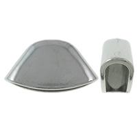 Sinkkiseos Helmihattu, platina väri päällystetty, nikkeli, lyijy ja kadmium vapaa, 27.50x15x9.50mm, Reikä:N. 2mm, Sisäläpimitta:N. 6x24.5mm, N. 190PC/KG, Myymät KG