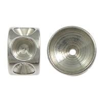 Stainless Steel Helmet asetus, Ruostumaton teräs, Rondelli, alkuperäinen väri, 5x8mm, Reikä:N. 1mm, Sisäläpimitta:N. 8, 3mm, 200PC/erä, Myymät erä