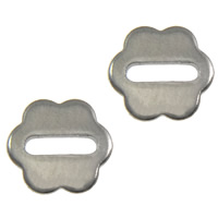 Stainless Steel Spacer Bead, Flower, original color, 6.50x6x0.70mm, Hole:Approx 4x1mm, 2000PCs/Lot, Sold By Lot