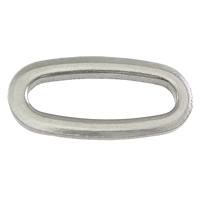 Roestvrij staal ring connectors, Plat Ovaal, oorspronkelijke kleur, 16x8x1.50mm, 1000pC's/Lot, Verkocht door Lot