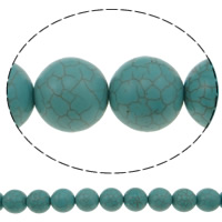 Turquoise Beads, Round, blue, 18mm, Hole:Approx 1mm, Approx 23PCs/Strand, Sold Per Approx 15 Inch Strand