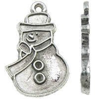 Zinc Alloy Pendant Rhinestone Setting Snowman antique silver color plated nickel lead   cadmium free 17x26x2mm Hole:Approx 2mm Inner Diameter:Approx 1.5mm Approx 315PCs/KG