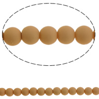 Fashion Glass Beads, Round, solid color, light orange, 10mm, Hole:Approx 1mm, Length:Approx 31.5 Inch, 10Strands/Bag, Sold By Bag